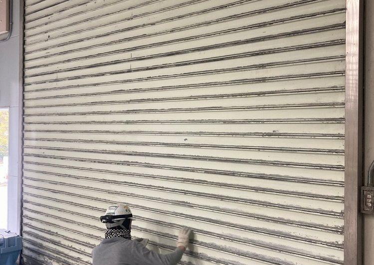 いわき市,工場シャッター塗装
